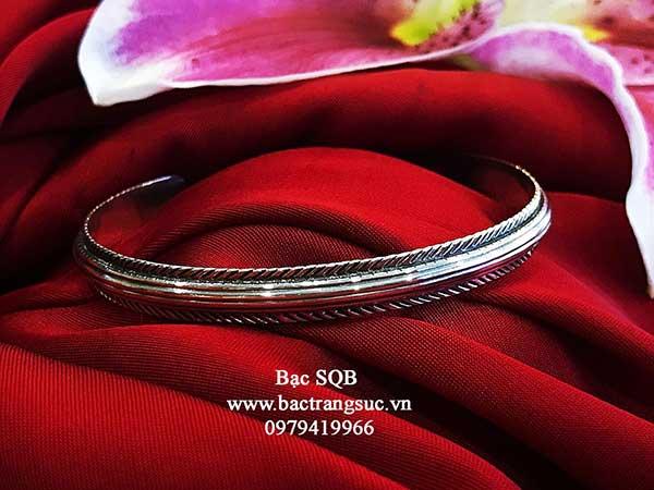 Lắc tay bạc nữ BRA-1466
