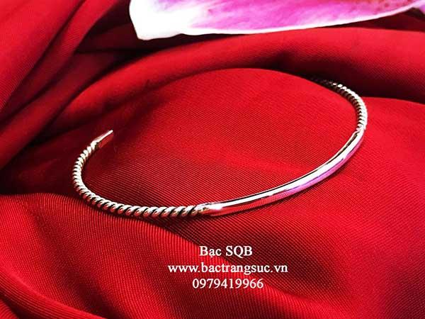 Lắc tay bạc nữ BRA-1471