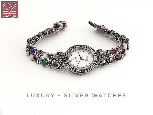 Đồng hồ bạc dây ngũ sắc