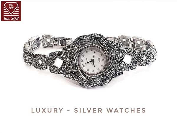 Đồng hồ bạc nữ WA-175
