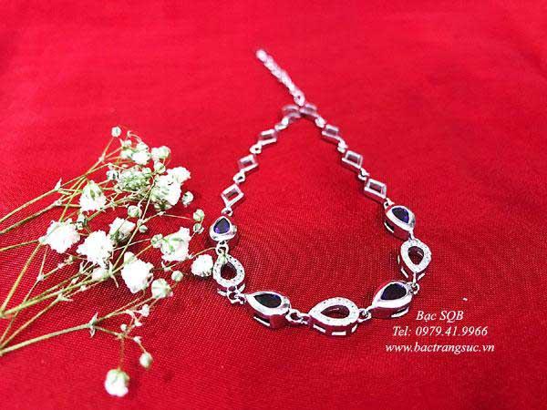 Lắc tay bạc nữ BRA-1437