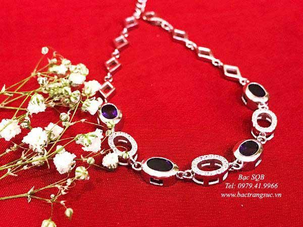 Lắc tay bạc nữ BRA-1439