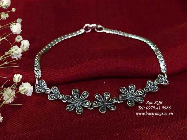 Lắc tay bạc nữ BRA-1362