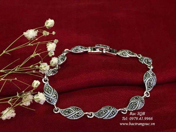 Lắc tay bạc nữ BRA-1408
