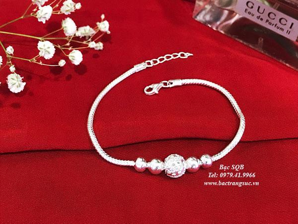 Lắc tay bạc BRA-1427A