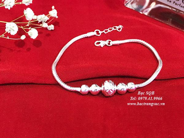 Lắc tay bạc BRA-1427C