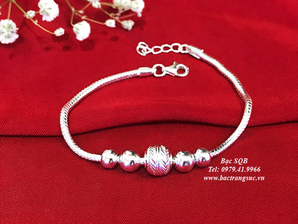 Lắc tay bạc BRA-1427D
