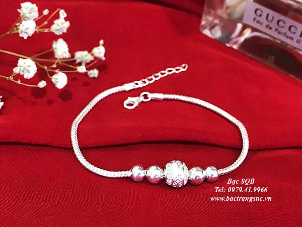 Lắc tay bạc BRA-1427E