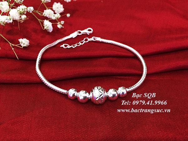 Lắc tay bạc BRA-1427F