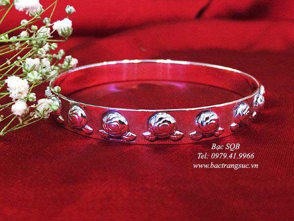 Lắc tay bạc nữ BRA-1446