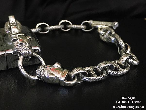 Lắc tay bạc nam BRA-1411
