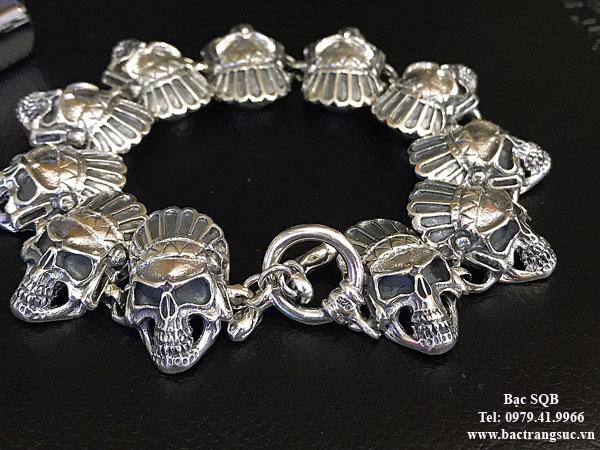 Lắc tay bạc nam BRA-1413