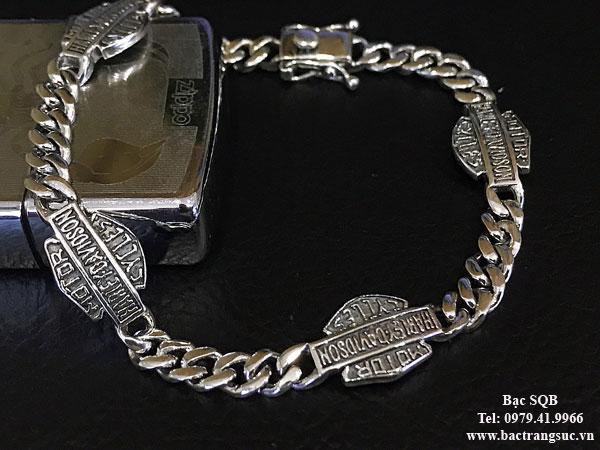 Lắc tay bạc nam BRA-1414