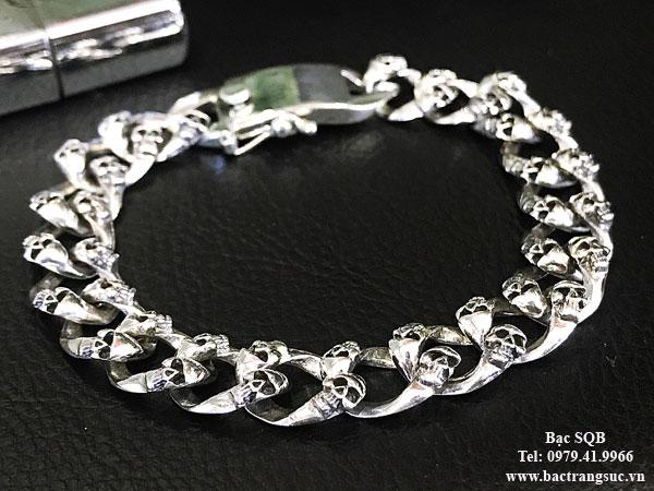 Lắc tay bạc nam BRA-1416