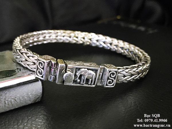 Lắc tay bạc nam BRA-555D
