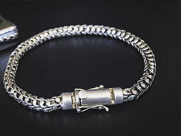 Lắc tay bạc nam BRA-236A