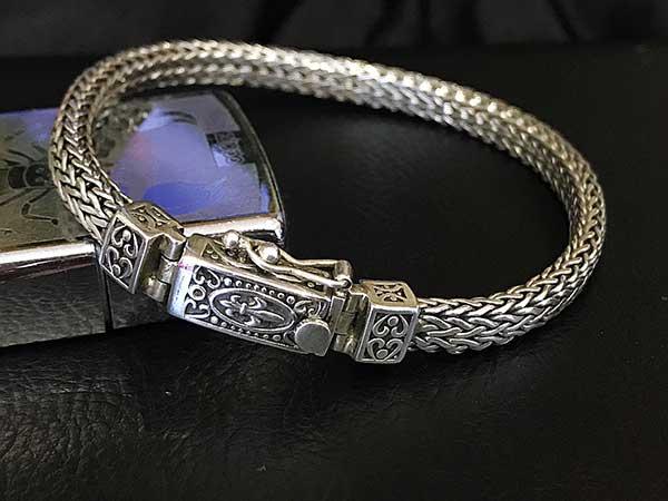Lắc tay bạc nam BRA-995