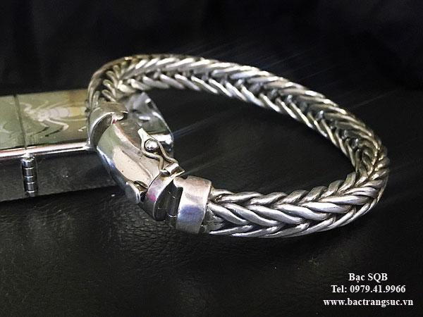 Lắc tay bạc nam BRA-1009
