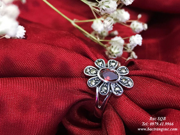 Nhẫn bạc nữ RI-2411