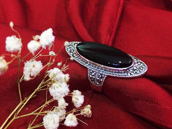 Nhẫn bạc nữ đính đá RI-306