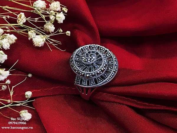 Nhẫn bạc nữ RI-1590