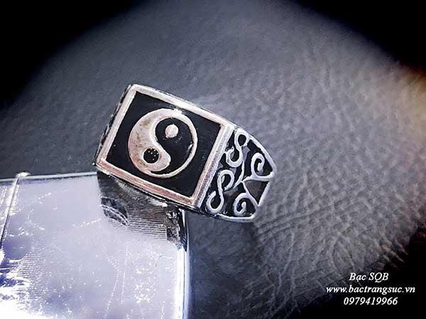 Nhẫn bạc nam Thái Lan biểu tượng âm dương