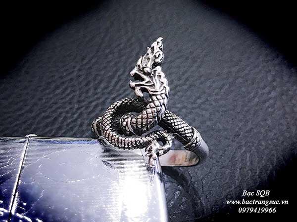 Nhẫn bạc Thái nam hình rồng (OFF10%)