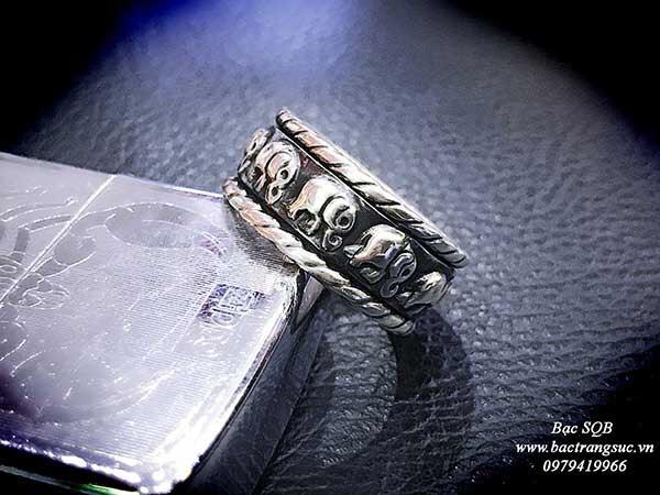 Nhẫn bạc Thái nam RI-2939 (OFF10%)