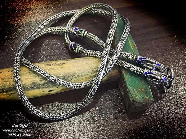 Dây chuyền bạc nam Thái lan đầu rồng đẹp