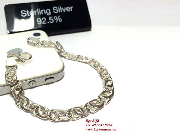 Lắc tay bạc nam BRA-423