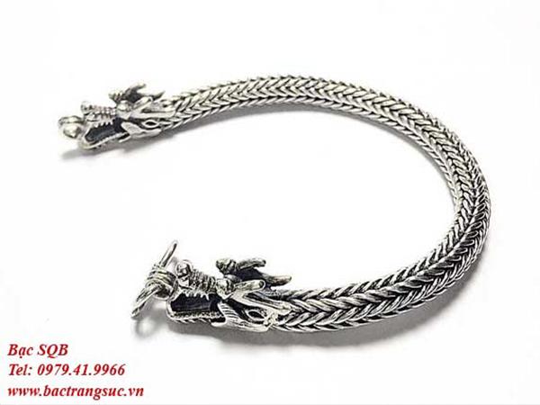 Lắc tay bạc nam BRA-876