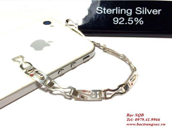 Lắc tay bạc nam BRA-931
