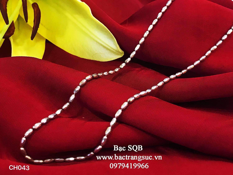 Dây chuyền bạc nữ Thái Lan CH-043
