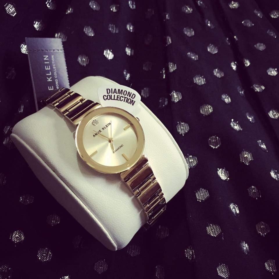 Đồng hồ chính hãng AK-2434CHGB màu gold