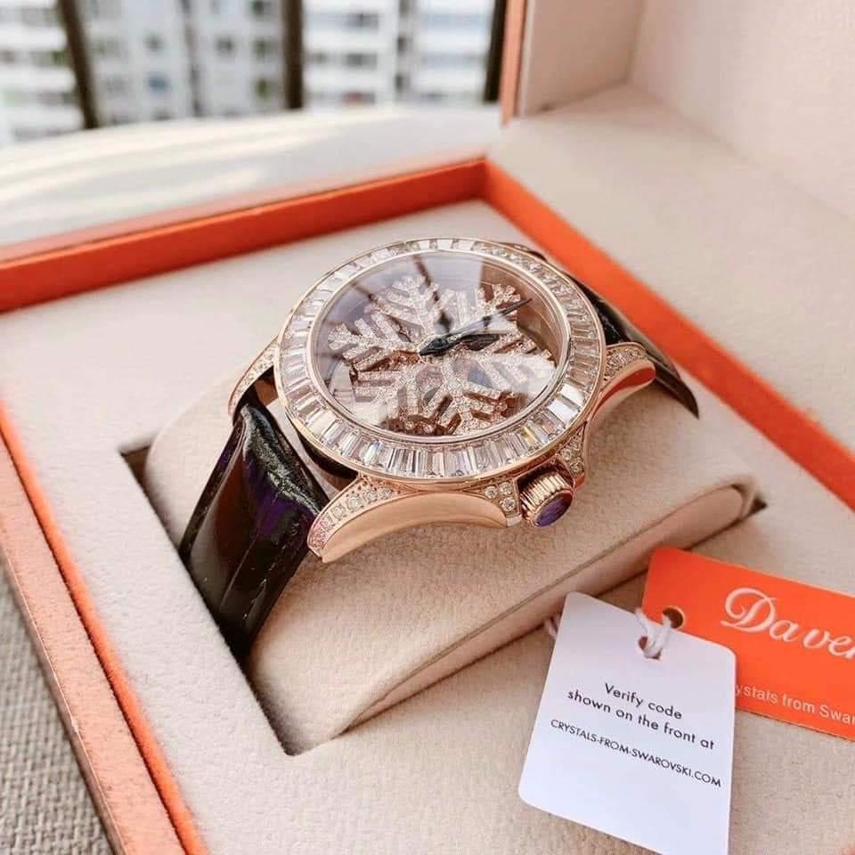 Đồng hồ hãng Davena hoa tuyết