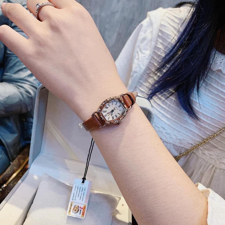 Đồng hồ hãng Julius dây quai nâu tây