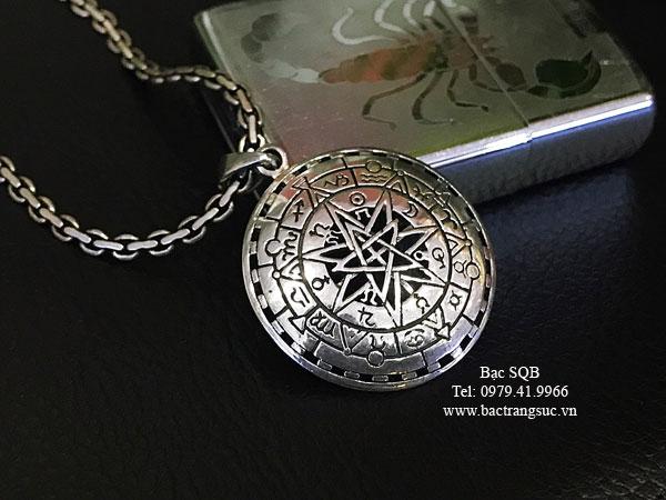 Mặt dây chuyền bạc nam PD-2879
