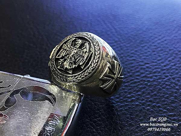 Nhẫn bạc Thái nam RI-1629