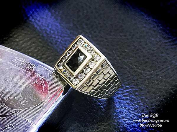 Nhẫn bạc nam RI-1658