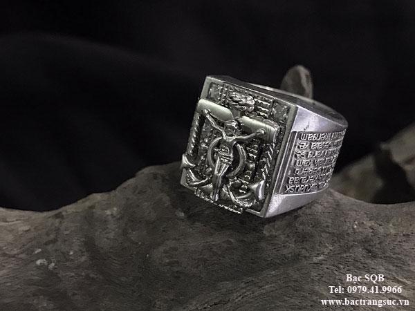 Nhẫn bạc nam RI-2046