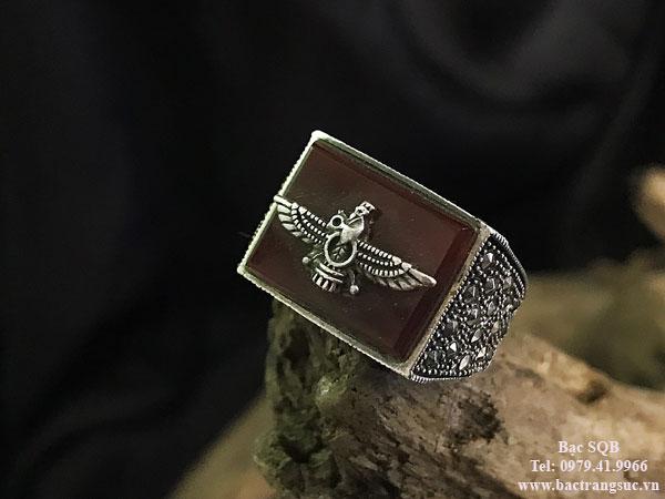 Nhẫn bạc nam RI-2684