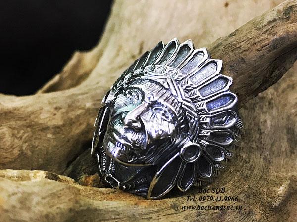 Nhẫn bạc nam RI-3003
