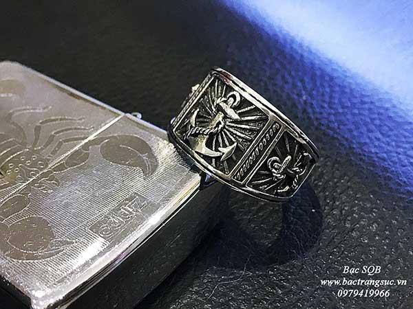 Nhẫn bạc Thái nam RI-3007