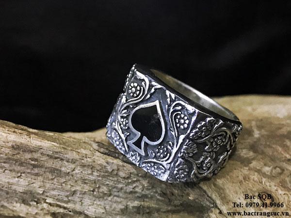 Nhẫn bạc nam RI-3027