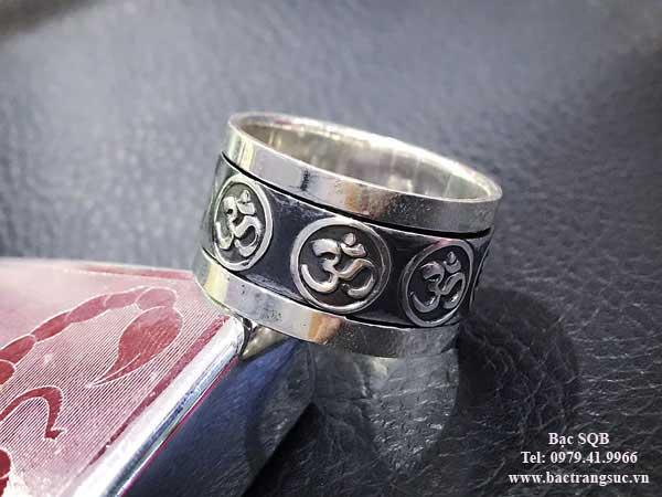 Nhẫn bạc nam RI-3040