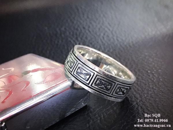 Nhẫn bạc nam RI-3041