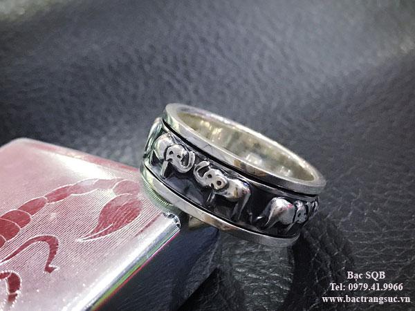 Nhẫn bạc nam RI-3043