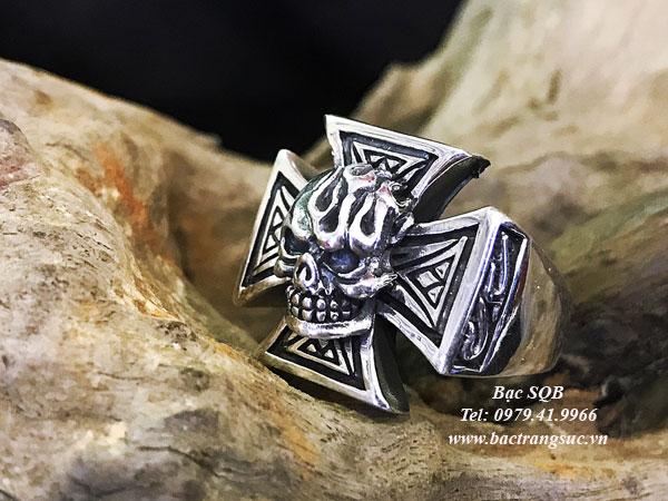 Nhẫn bạc nam RI-3059