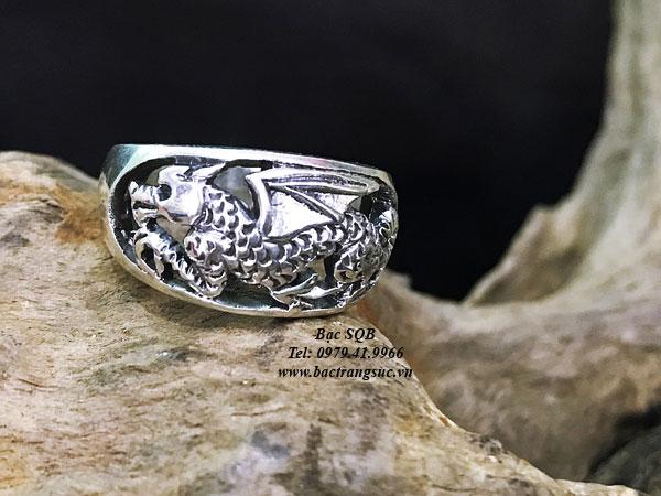 Nhẫn bạc nam RI-3060