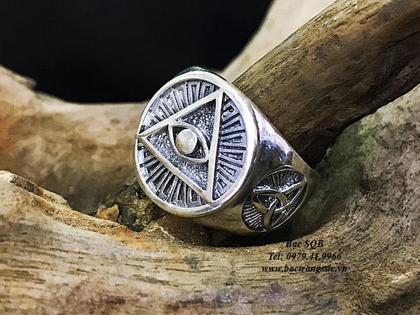 Nhẫn bạc nam RI-3063